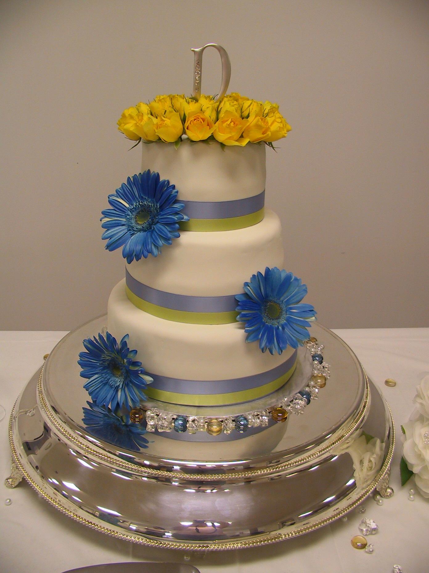 blue gerber daisy chruch