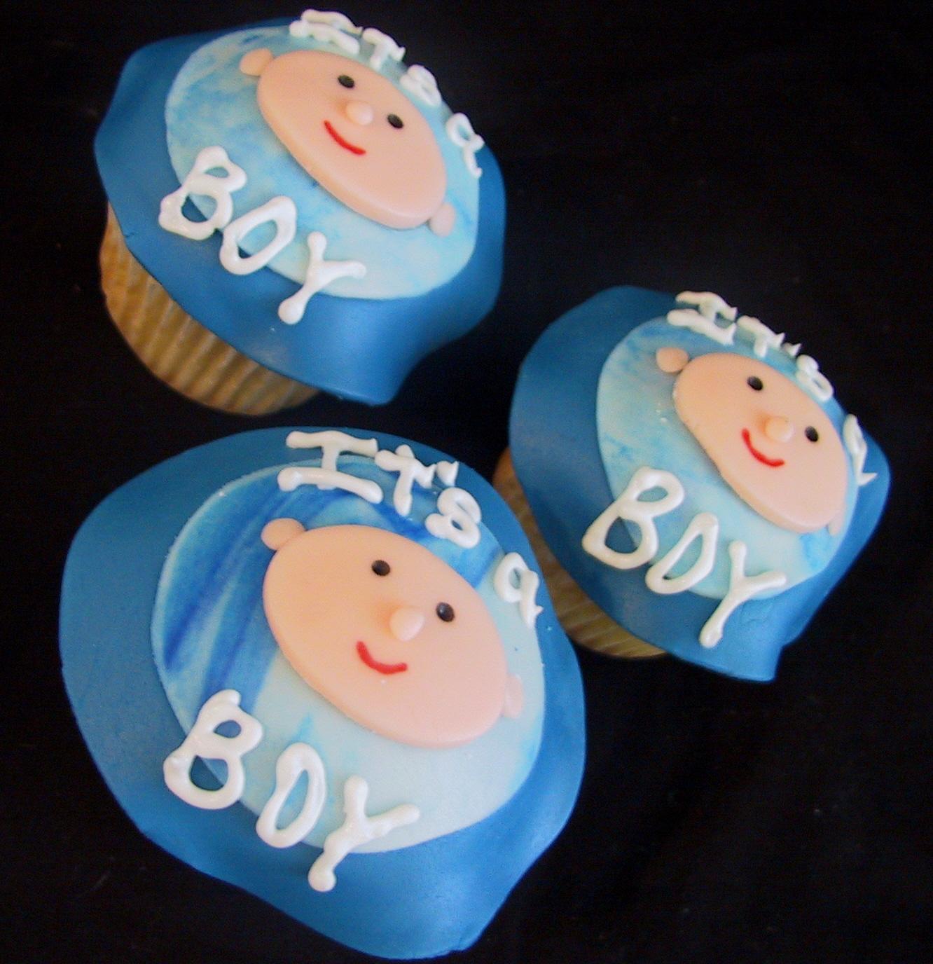 its a boy cupcakes