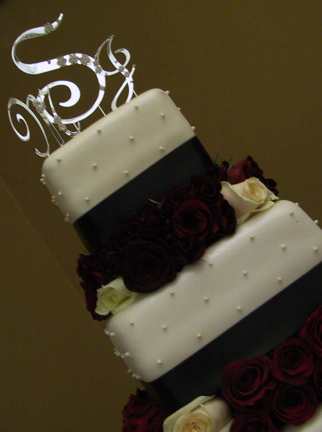 rose wedding cake topper