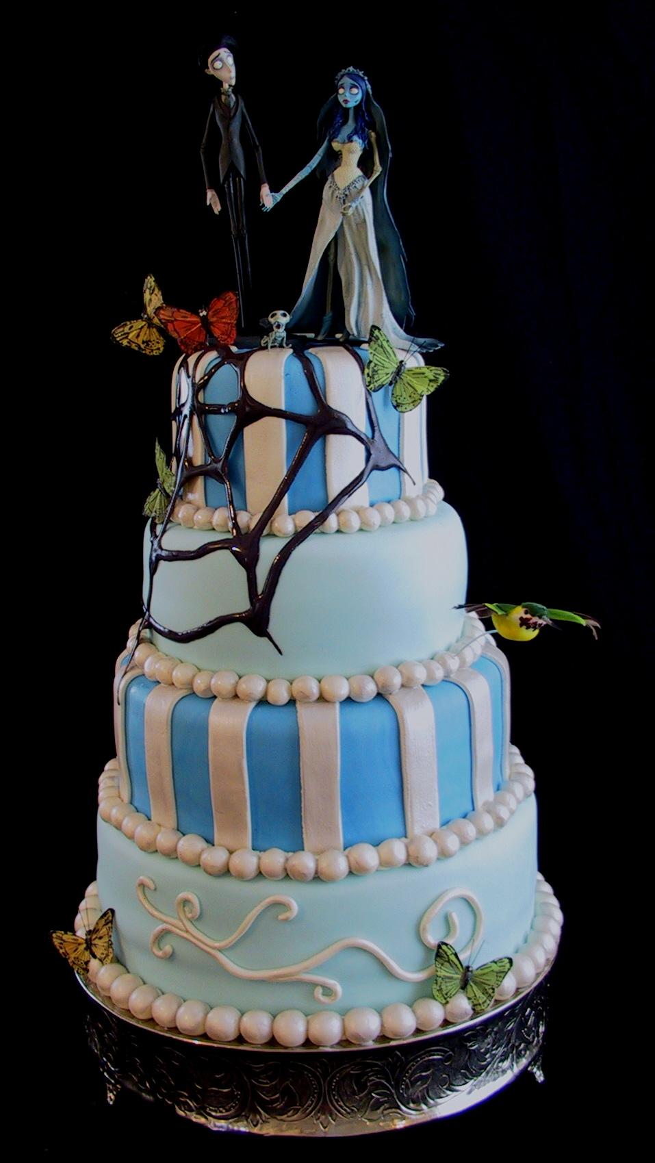 Fondant Corpse Bride Whimsical Wedding Cake Buffalo Trace