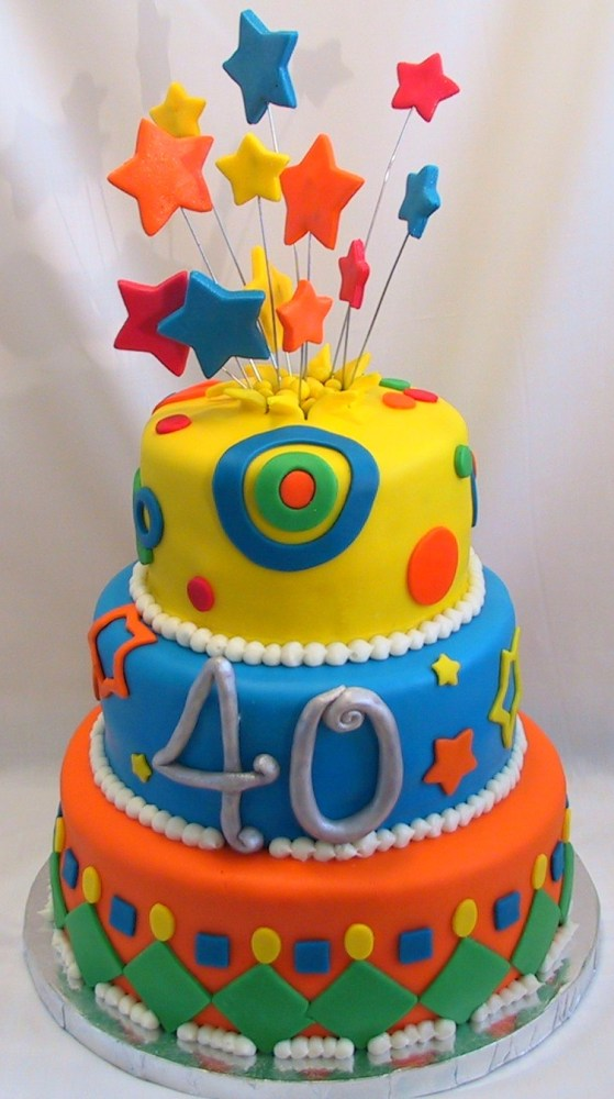 Fondant Whimsical Birthday Cake