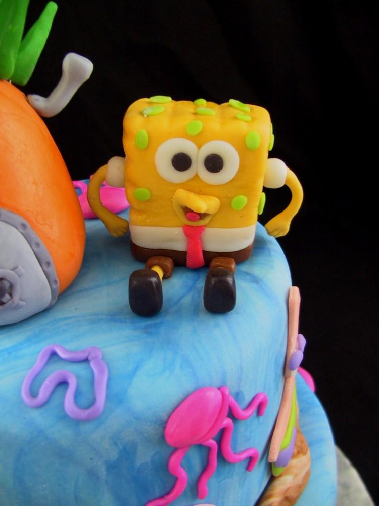 Fondant Tiered Sponge Bob Birthday Cake - Danville, KY (5/6)