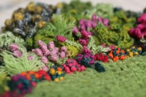 knitted crochet flowers garden