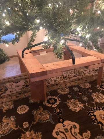Christmas Tree Elevated Stand