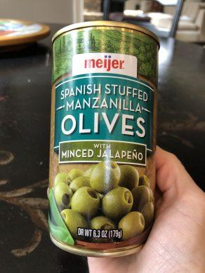 Olives stuffed with jalapeño