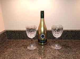 Kim Crawford sauvignon bland and wine glasses