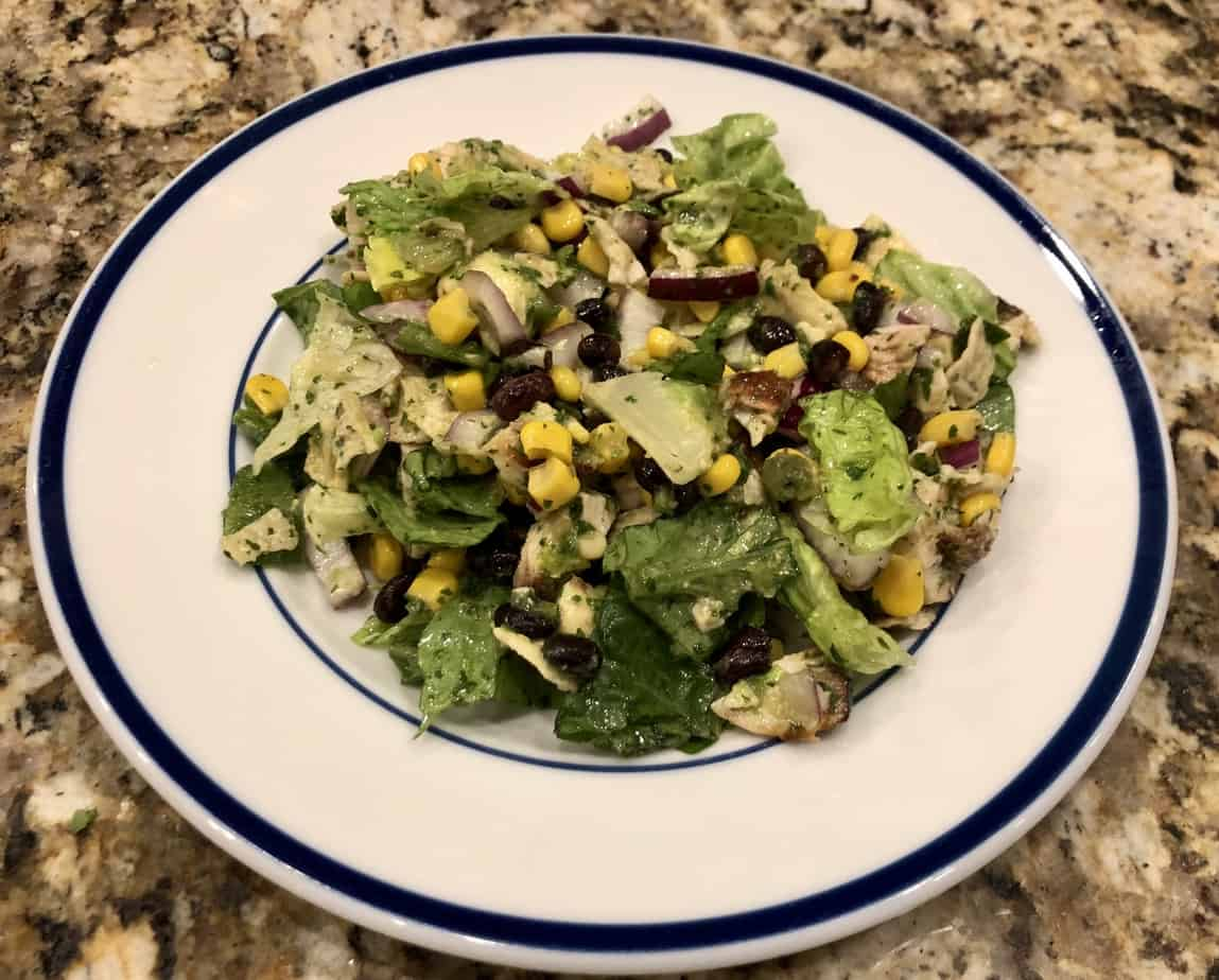 Kelly's Salad: Southwest Flavors with a  Cilantro/Lime/Jalapeno Dressing