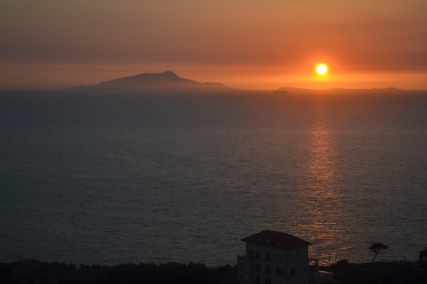 Sunset, Sorrento, Bay of Naples, Italy