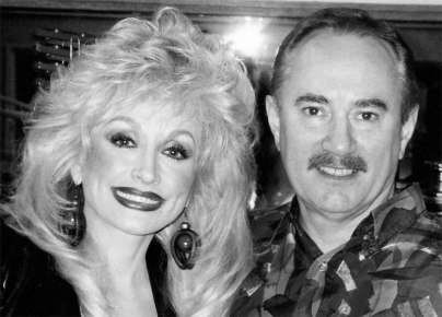 Dolly and me at KLAC in LA - 1993