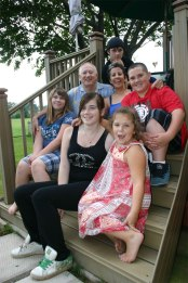 Grandkids, top to bottom: Michael, Gregor, Katie, Kaylah, Meggie