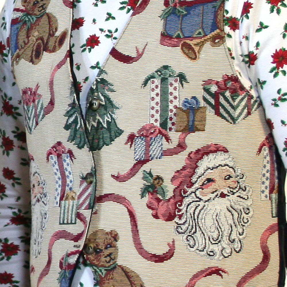 Olde Tyme Style Tapestry Ugly Christmas Vest - The Ugly Sweater Shop