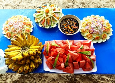 Fresh fruits for healthy living.