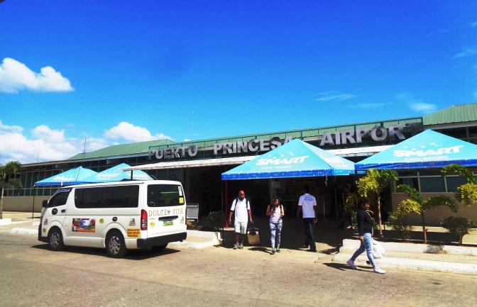 Puerto Princesa Airport front view and a Van Transfer to El Nido