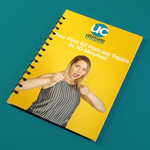 Podcast Mini Course Notebook Mockup