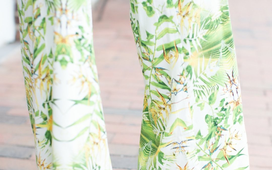 Tropical Print Palazzo Party