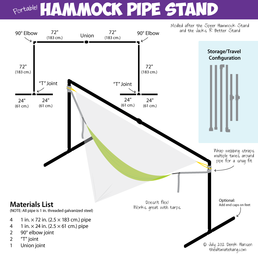 Portable Hammock Pipe Stand The Ultimate Hang