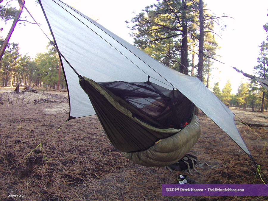 the moskito kakoon hammock  fortably situated beneath a maccat tarp  byer of maine moskito kakoon hammock review   the ultimate hang  rh   theultimatehang