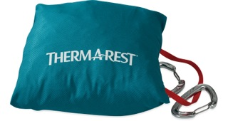 The Therm-a-Rest Slacker Hammocks stuff into a built-in stuff sack. No word yet on suspension systems.