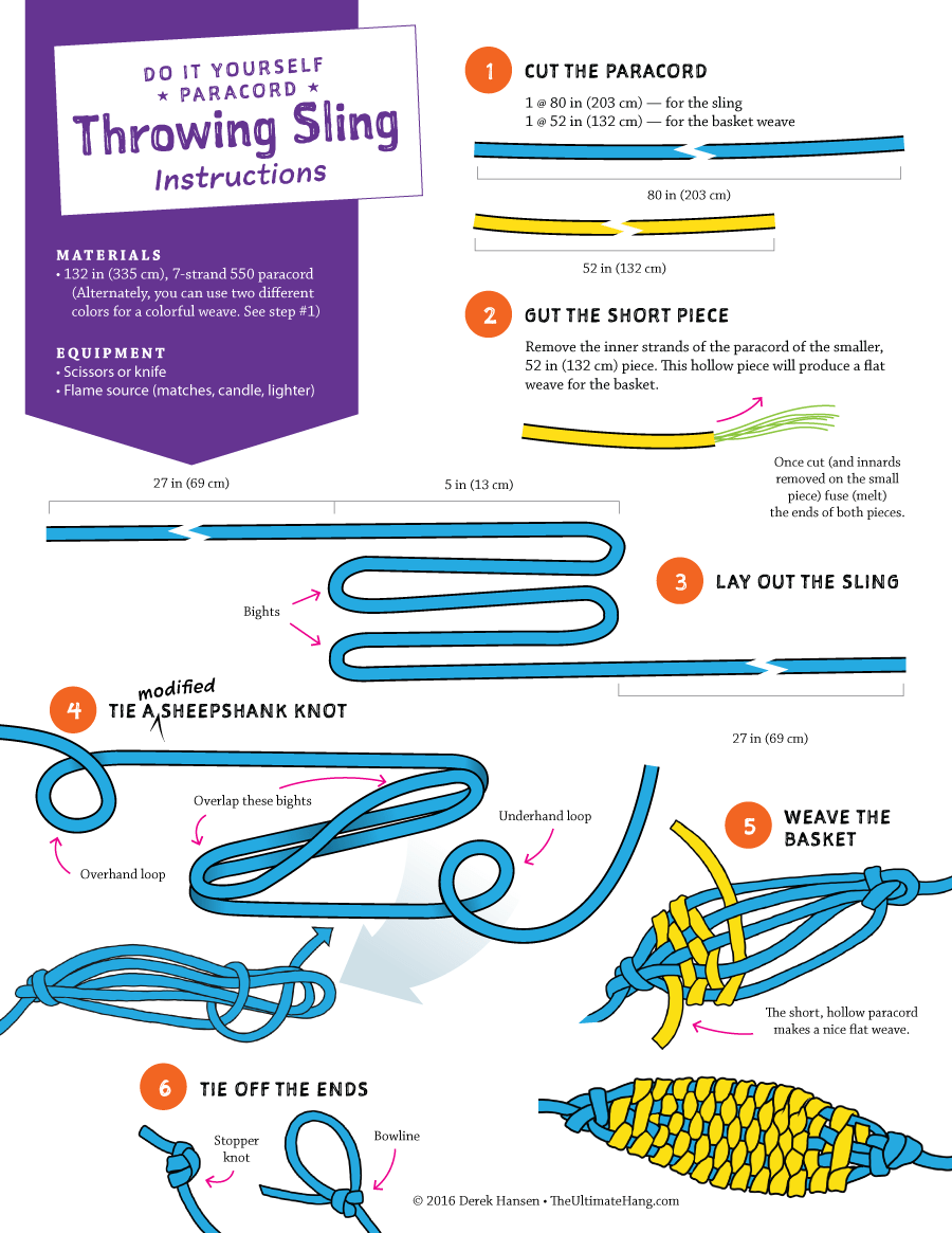 Diy Paracord Throwing Sling Instructions The Ultimate Hang