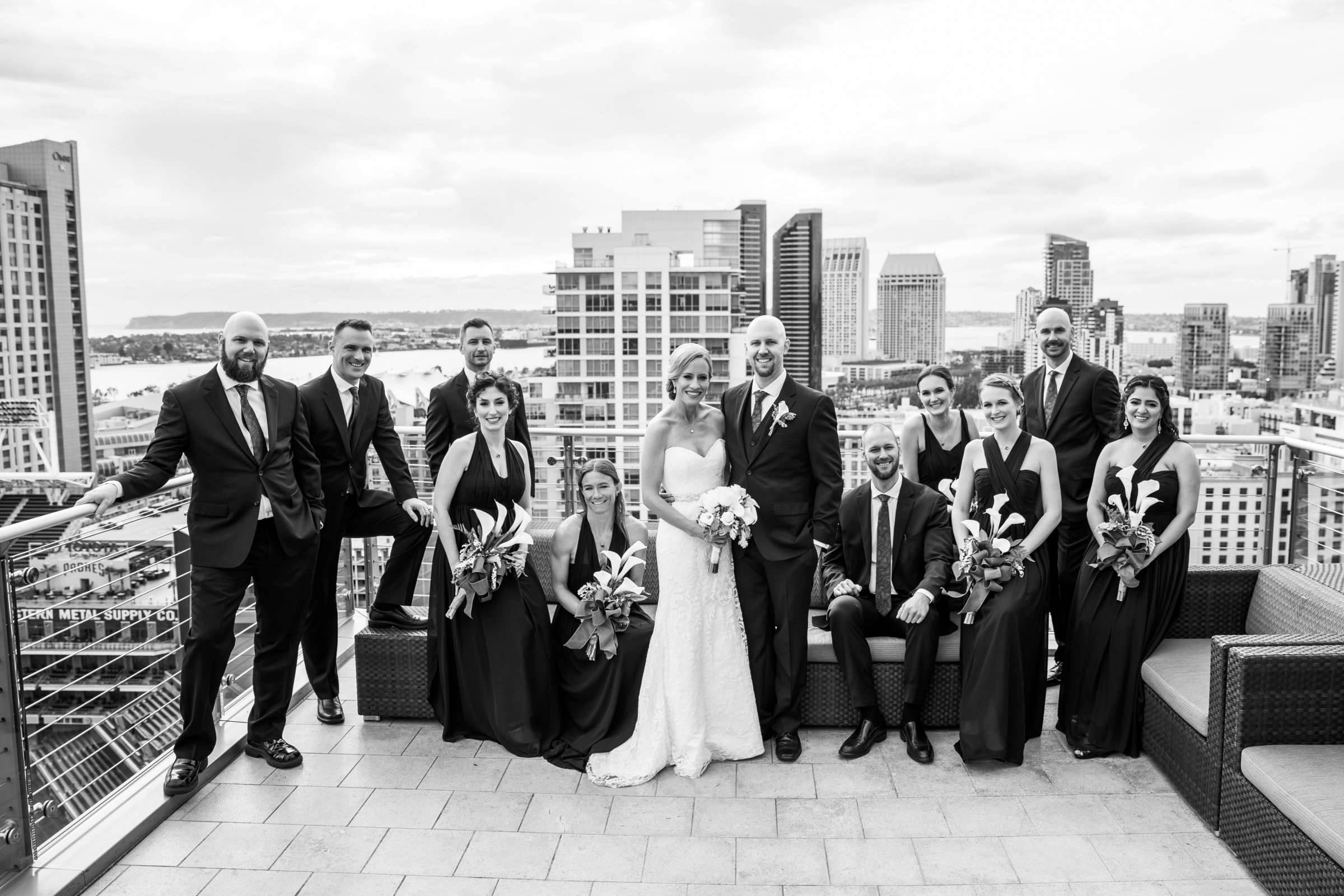 rooftop wedding san diego wedding party