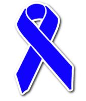 blue awareness ribbon