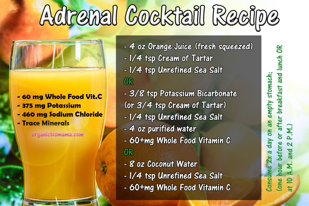 adrenal fatigue, adrenal cocktail