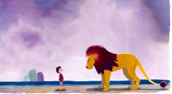 boy and lion