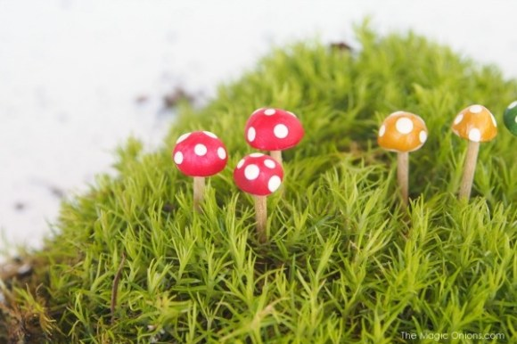 Toadstools Toothpick Arts amp Crafts for Kids