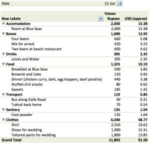 June 11 Expenses