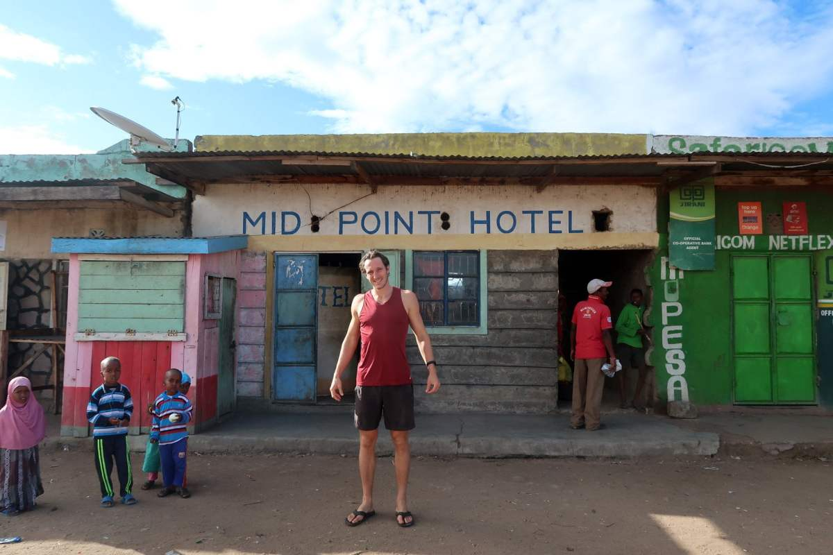 Standing out while backpacking in Kenya