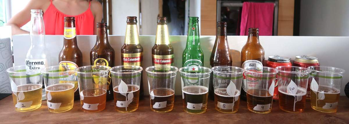 Colombian Beer Blind Taste Test Lineup