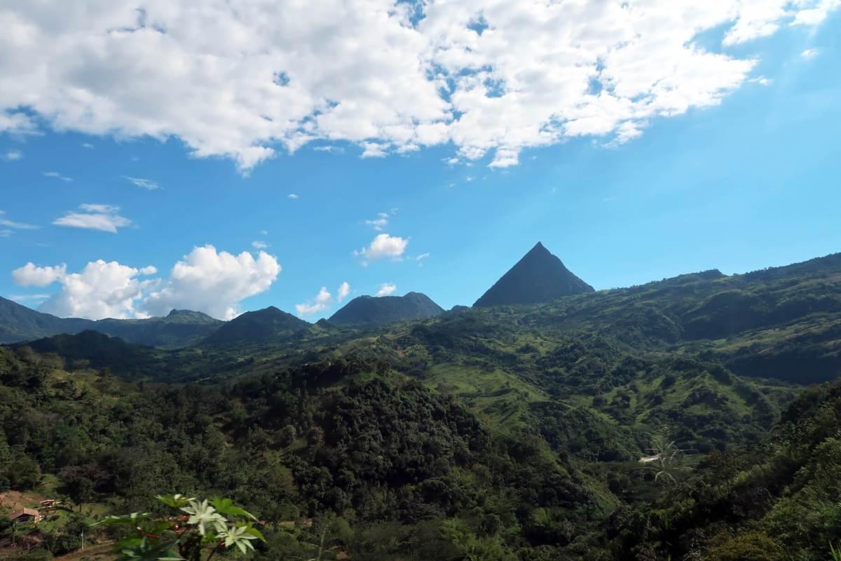 Medellin to Jardin Bus Ride Views Cerro Tusa