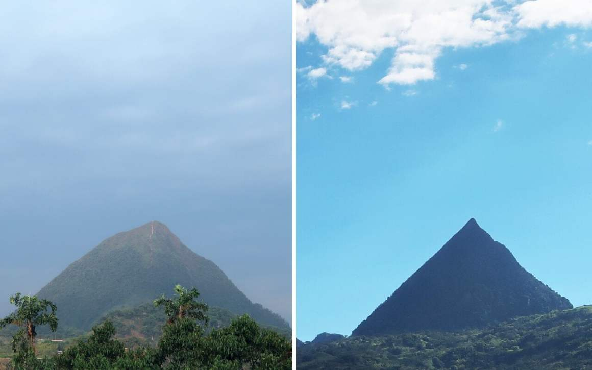 Cerro tusa viewed from both angles