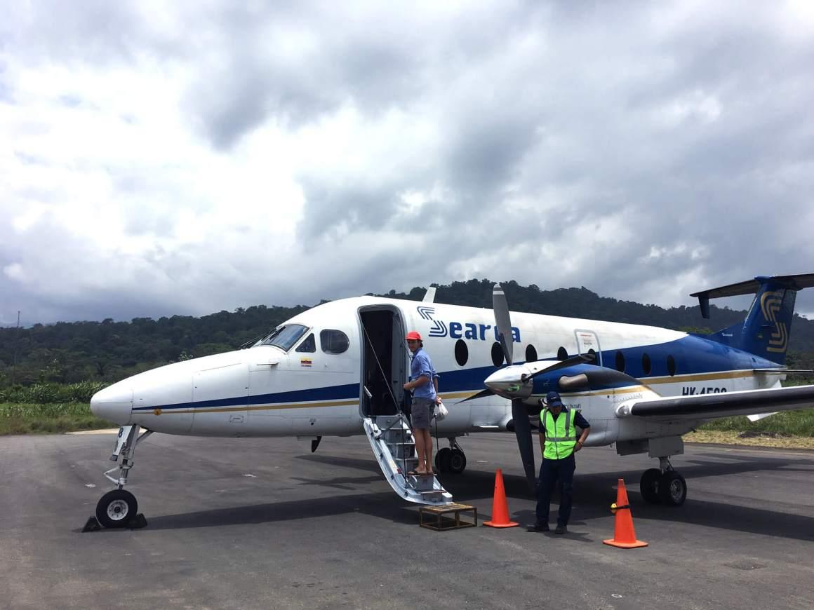 taking plane to bahia solano colombia