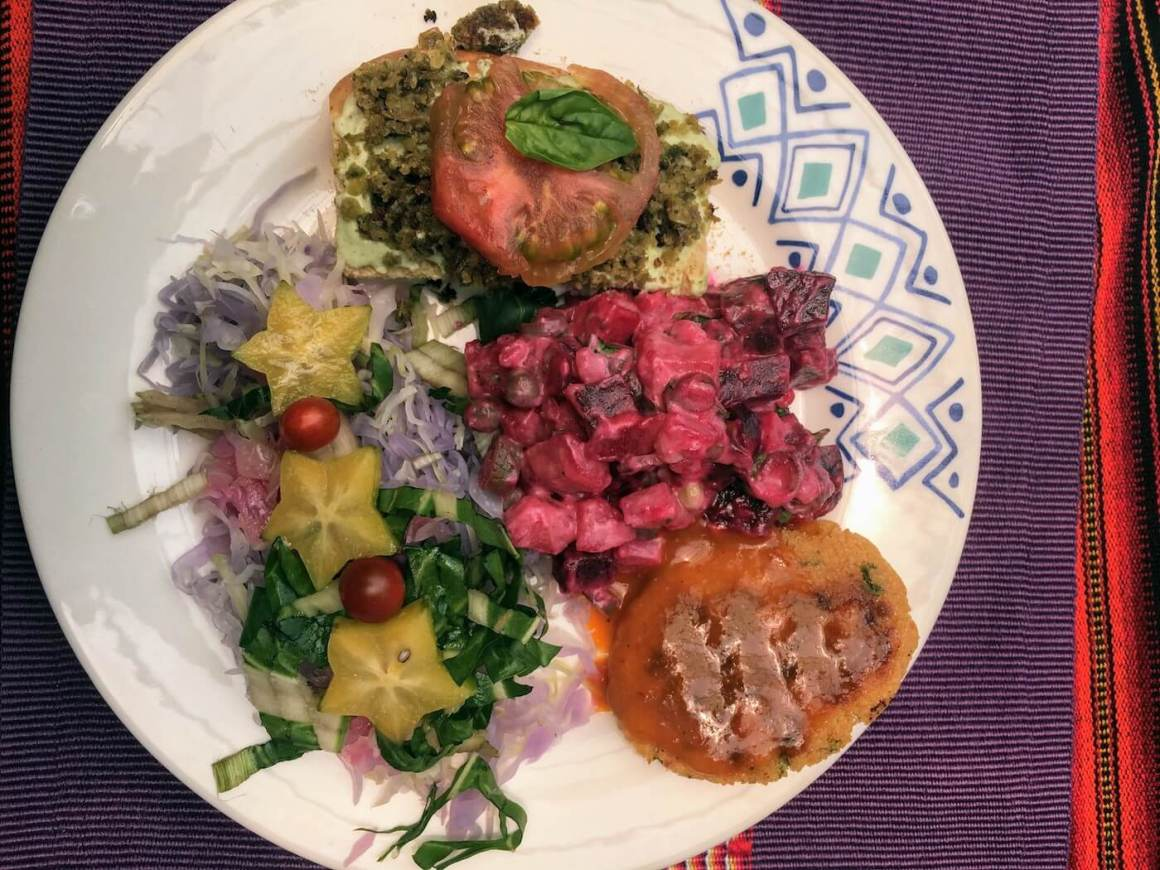 Colorful and eclectic dish from Espiritu Libre