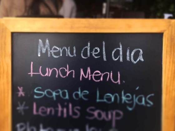 Best menu del dia lunch in Medellin, Colombia