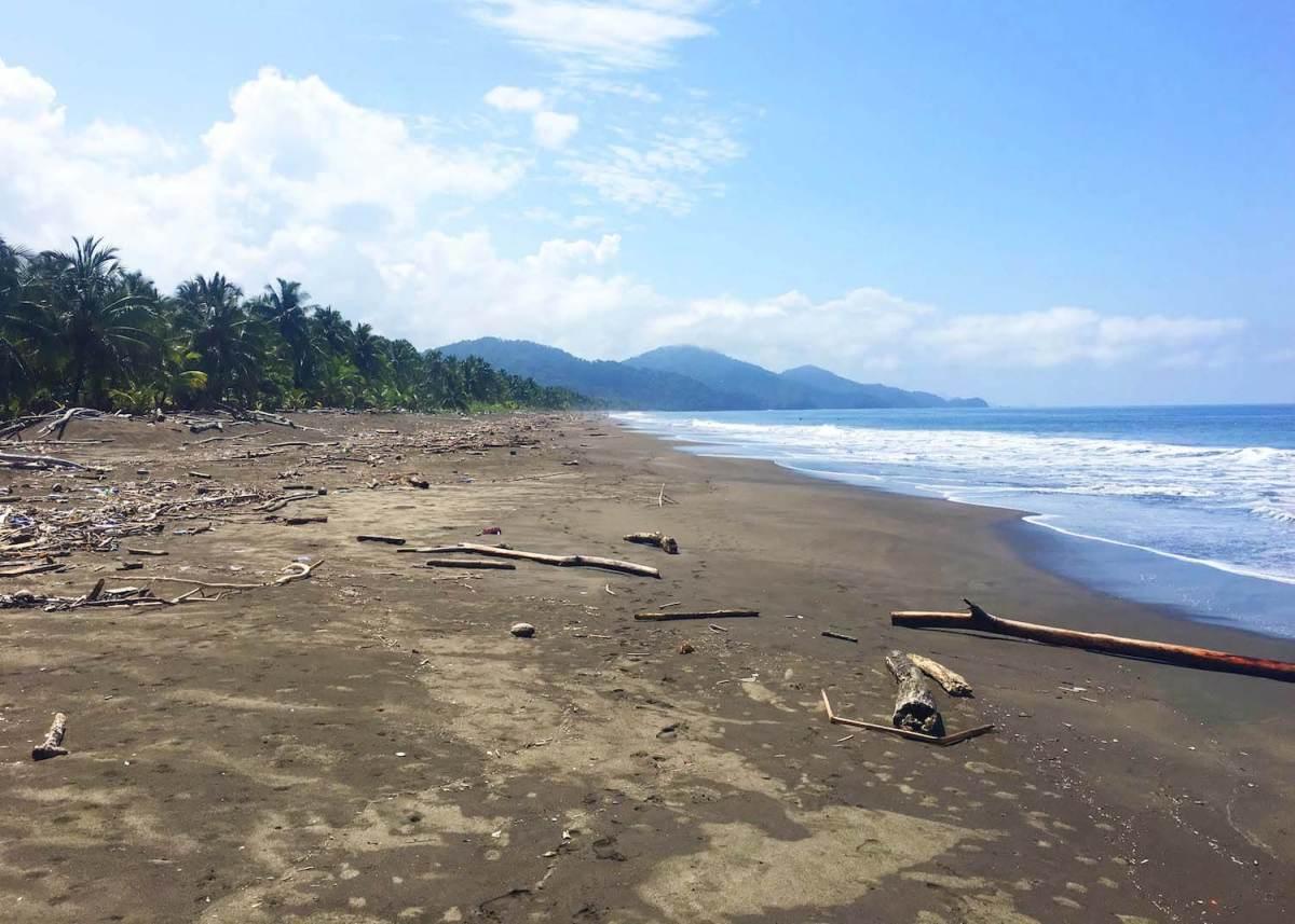 Playa Cuevita shore and ocean