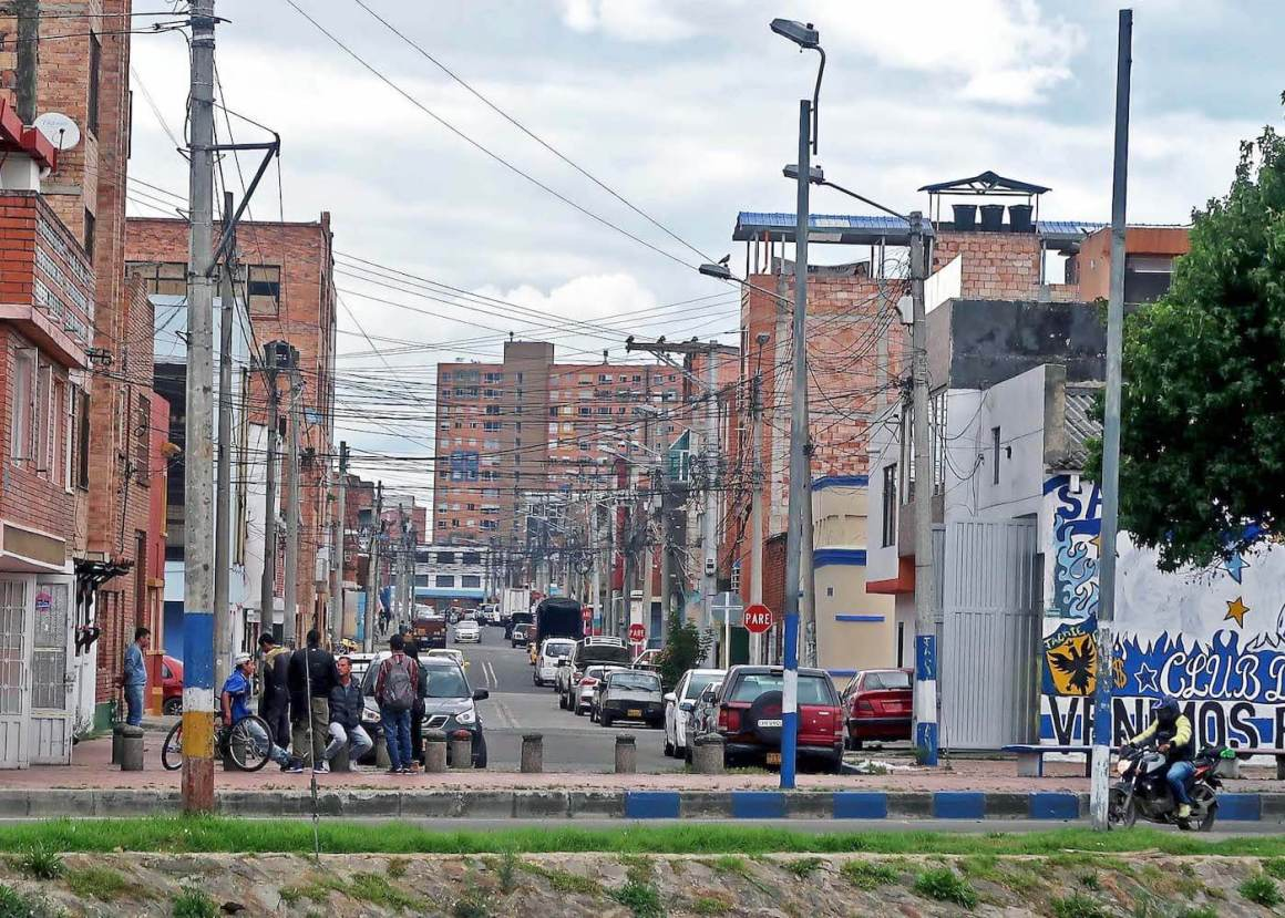 A less safe-looking street in Bogota