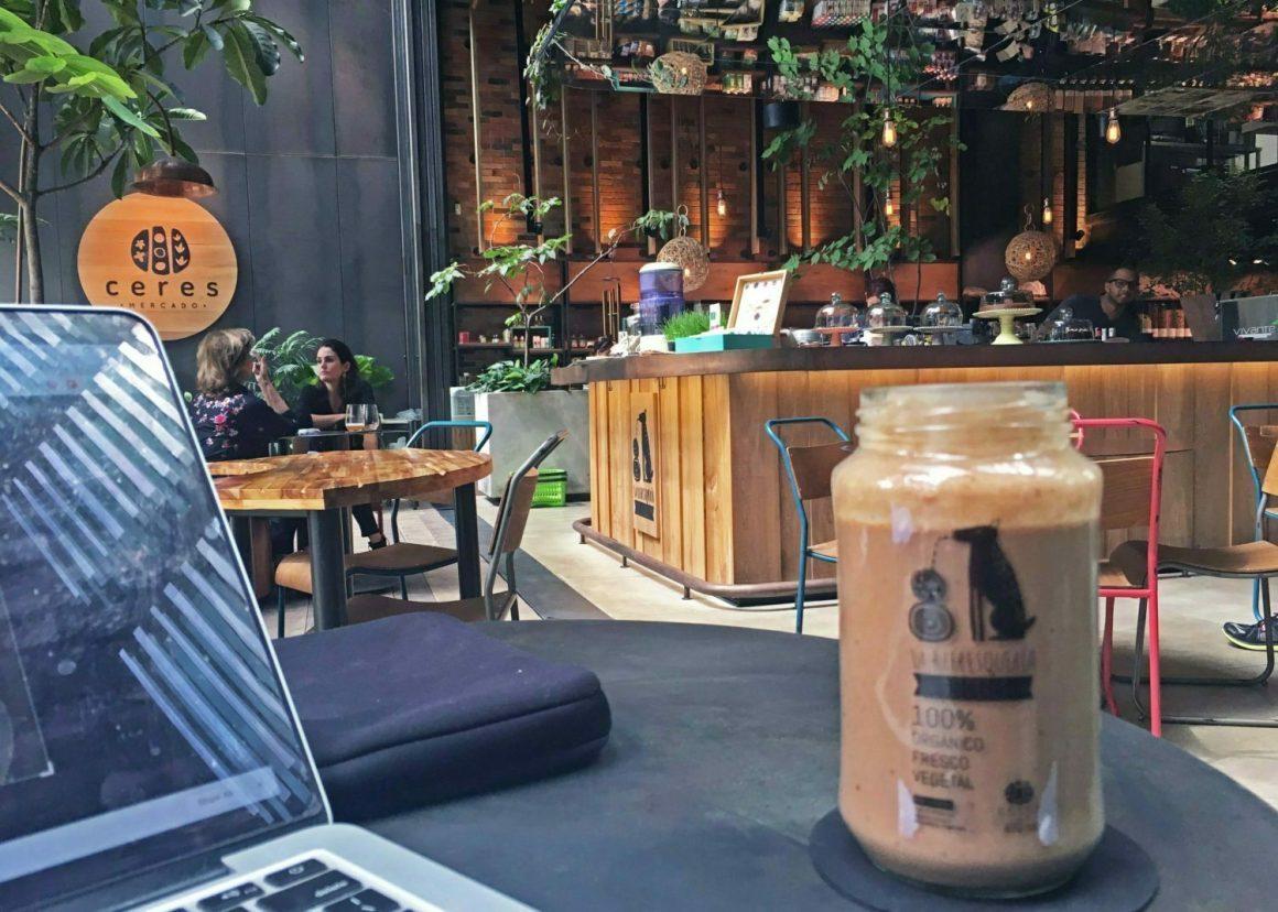 interior of Justo restaurant and cafe in El Poblado, Medellin