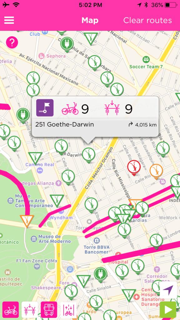 Mexico City EcoBici App screenshot