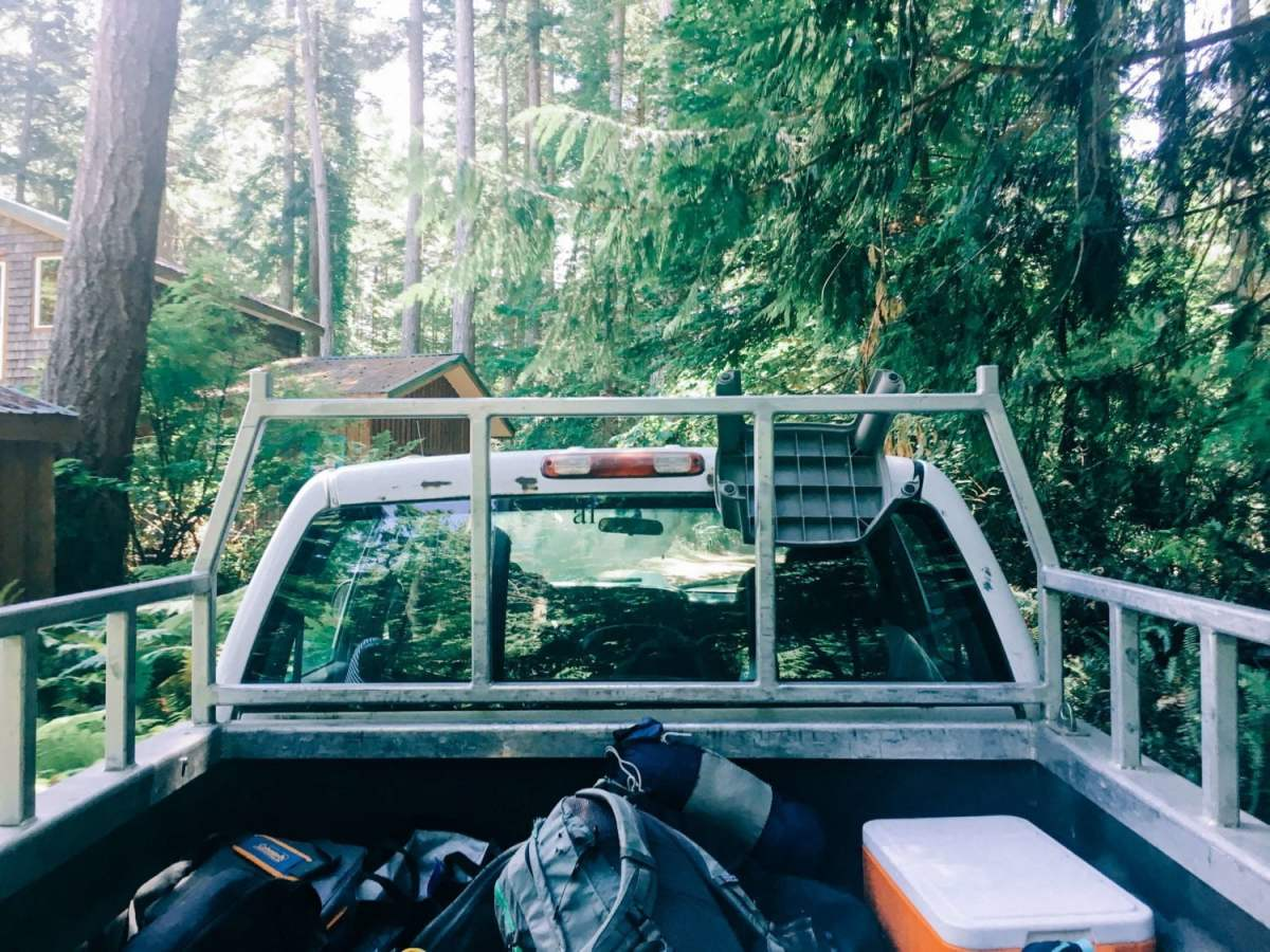 what to pack truck view of bags savary island