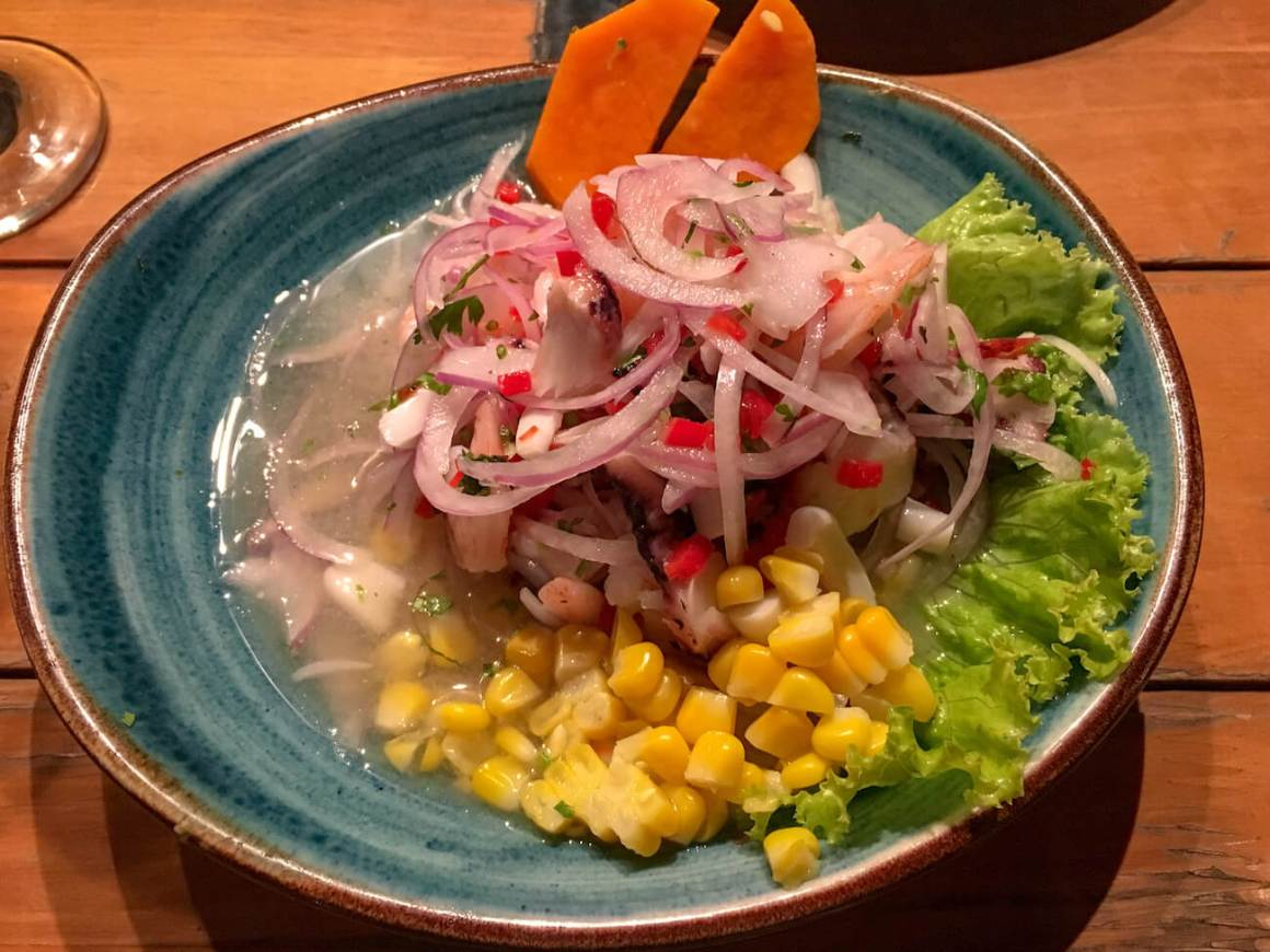 Ceviche from Chiclayo restaurant in Medellin