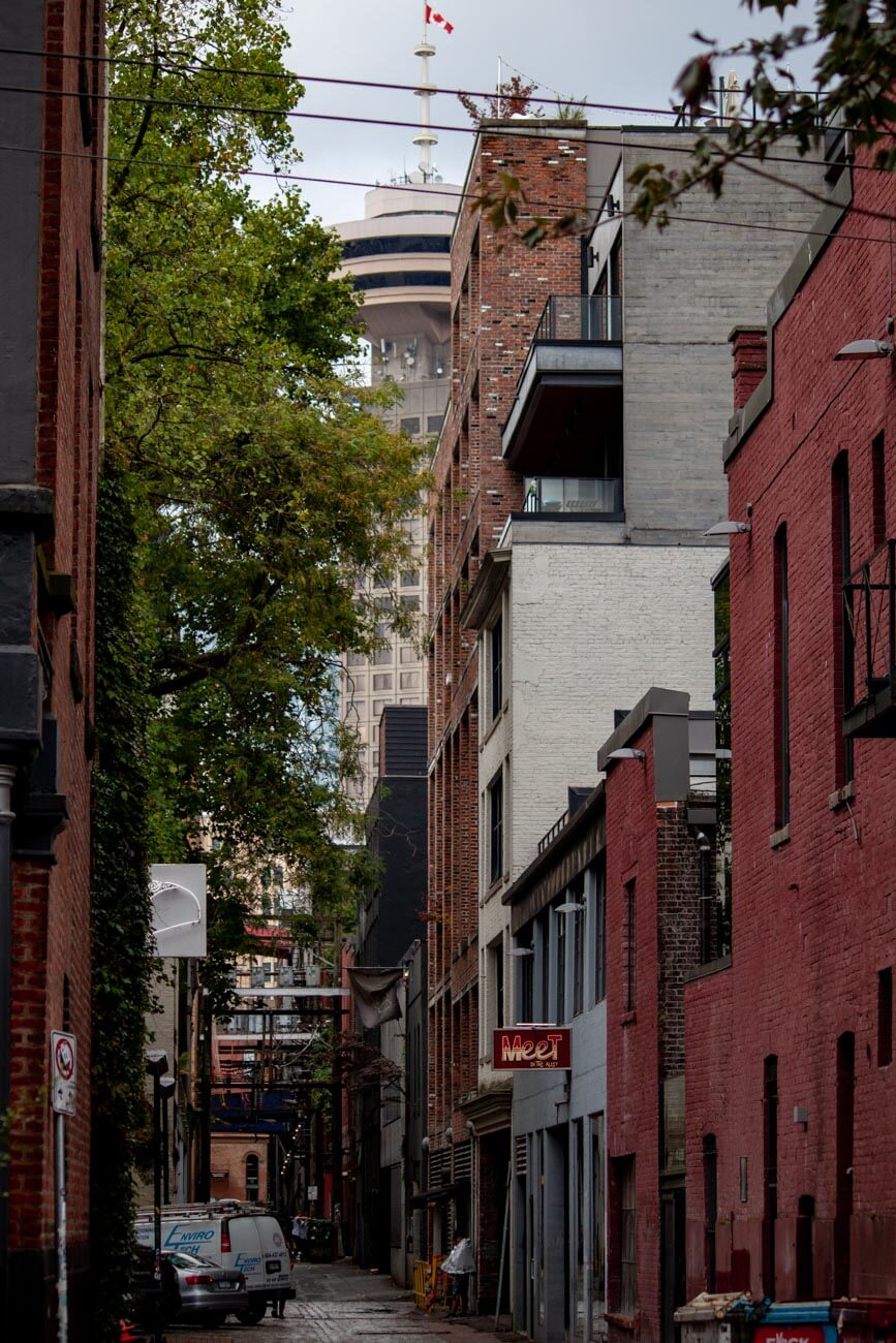 Vancouver lookout and Gastown's Blood Alley