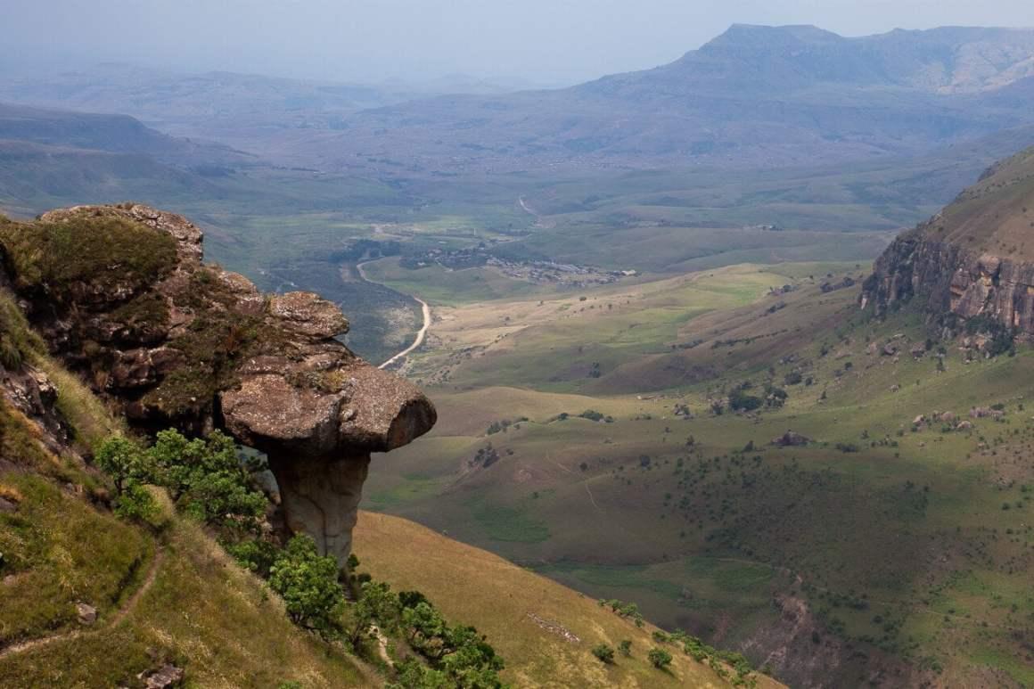 mushroom rock drakensberg cathedral peak