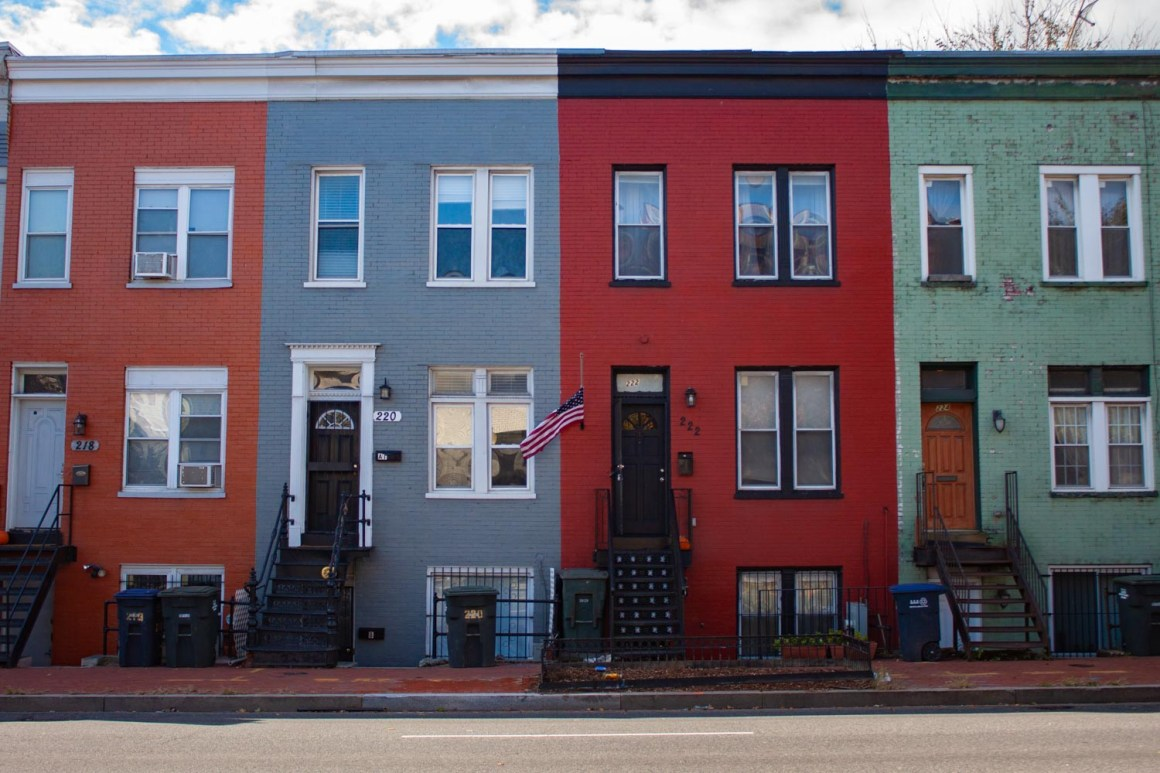 Strip of rowhouses in D.C.
