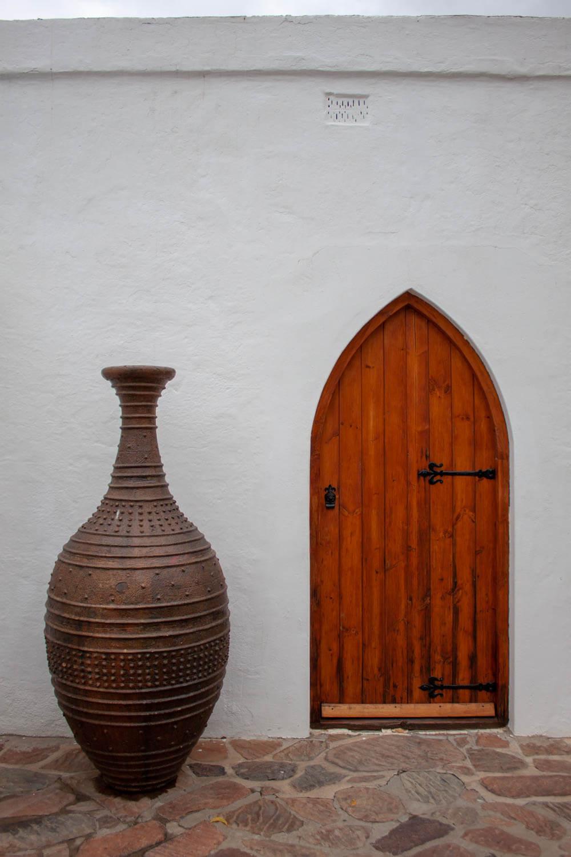 Arab-style door and vase