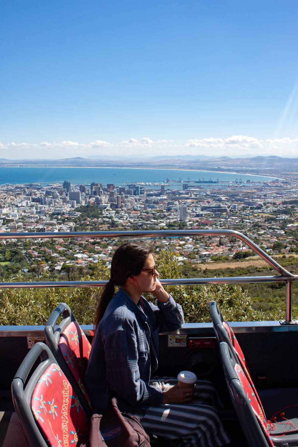 View of downtown Cape Town from the Table Mountain bus stop