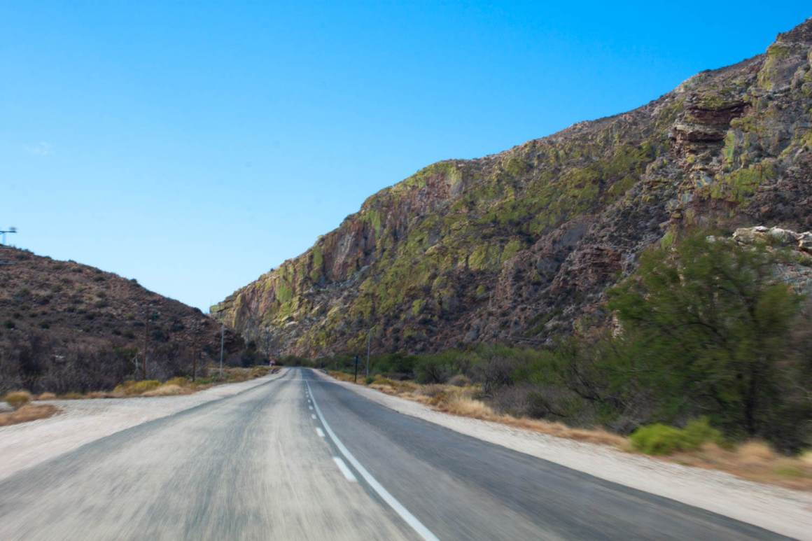 Leaving Meiringspoort Pass and approaching Prince Albert