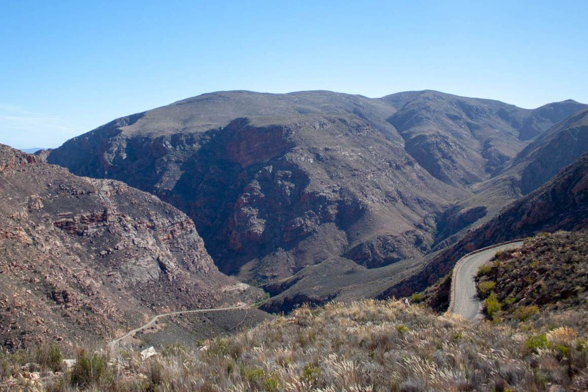 Looking down on the Swartberg Pass