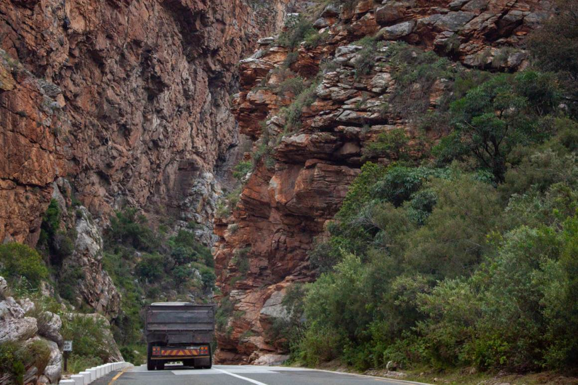 Dramatically narrow road in Meiringspoort